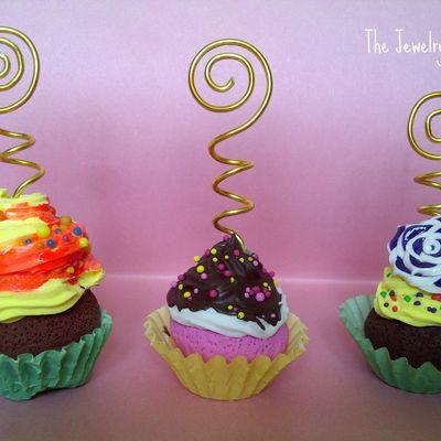 Portes-photos cupcakes.