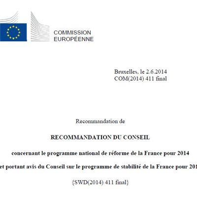 François Hollande a reçu sa feuille de route de Bruxelles