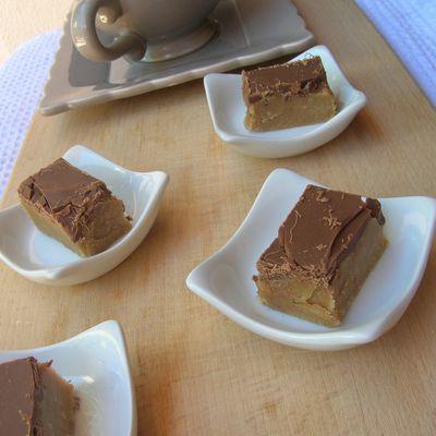 Bouchées chocolat/biscuits écrasés/café