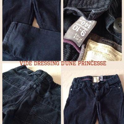 Pantalon velours bleu marine Zara taille 9-10 ans