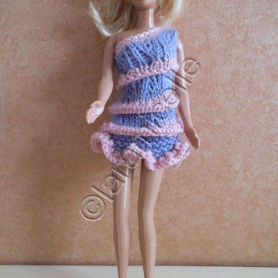 tuto gratuit barbie : mini robe spirale et volantée