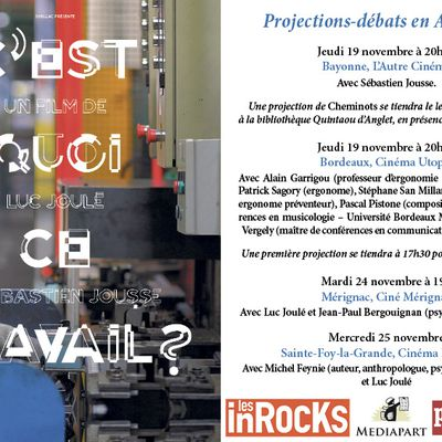 Annonce projection film documentaire