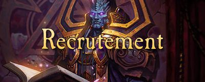 Phase de recrutement dans la Guilde