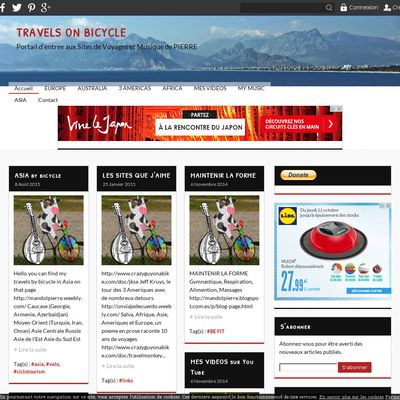 TRAVELS ON BICYCLE