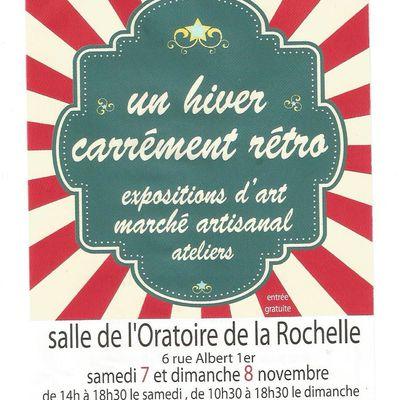 """Marché de créateurs """"carrément rétro"""" les 7 et 8 novembre, salle de l'oratoire à la Rochelle"""
