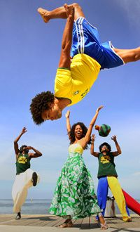 #Brazil! Brazil!- capoeira, football, samba, and chocolate men!