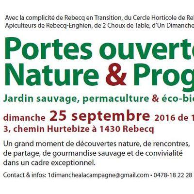 Portes ouvertes Nature et Progrès ce 25 sept.