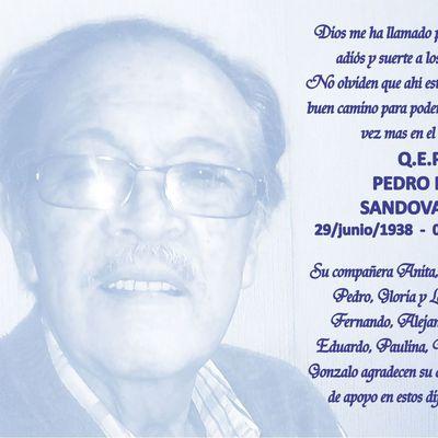 Postal Foto Azul Claro para Pedro Pablo Sandoval / Tarjetas de Agradecimiento de Condolencia