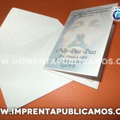 Tarjetas de Agradecimiento de Condolencia. Imprenta. Cel. y Whatsapp: +56930601037     +56985772933  tarjetasdecondolencia@gmail.com