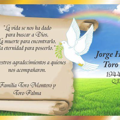 Postal Cielo Arcoiris para Jorge Toro / Tarjetas de Agradecimiento de Condolencia