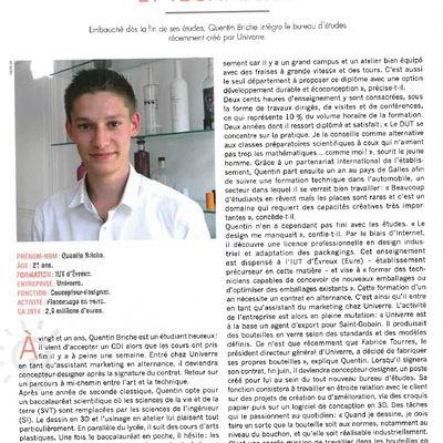 Parcours d'apprenti : Article d'emballage Magazine