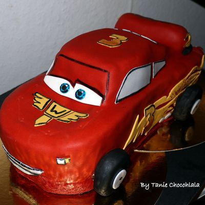 gâteau flash mc queen cars/ gâteau yaourt marbré