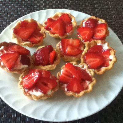 Recette: Tartelettes aux fraises
