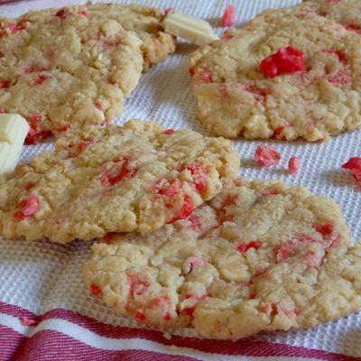 Cookies chocolat blanc et pralines roses