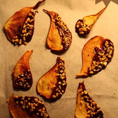 CHIPS DE POIRE AU CHOCOLAT & PRALIN