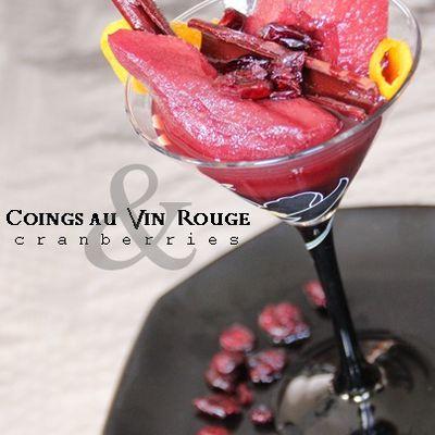 COING POCHE AU VIN EPICE & CRANBERRIES