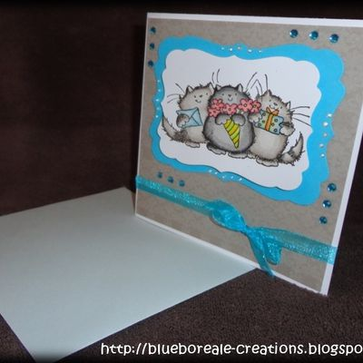 "Carte Penny Black ""3 petits chats"""