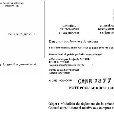Rejet des comptes de Sarkozy : Notes de Bercy Vs Note Sureau (analyse)