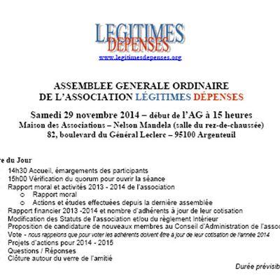 Assemblée Générale Annuelle de Légitimes Dépenses