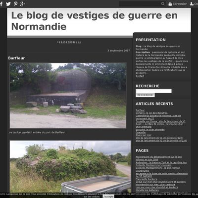 Le blog de vestiges de guerre en Normandie