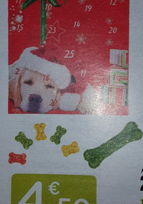 Oui un calendrier de l'avant pour son chien.