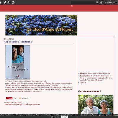 Le blog d'Anne et Hubert Ploquin