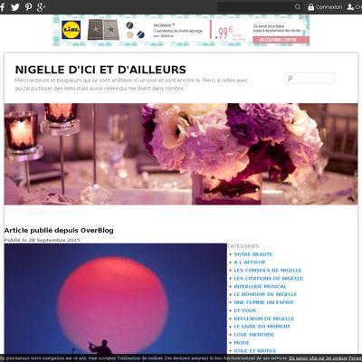 NIGELLE D'ICI ET D'AILLEURS
