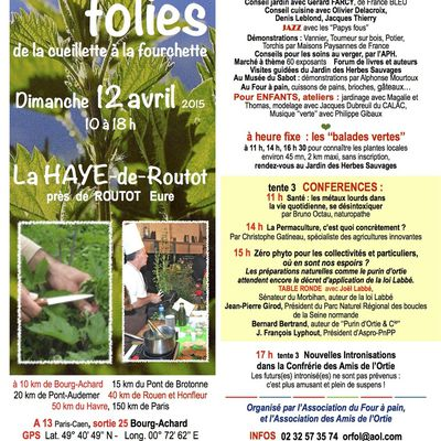Orties Folies 2015 dimanche 12 avril