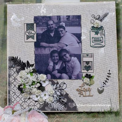 Scrapbooking Day, Love is all...{La Bulle à Scrap}