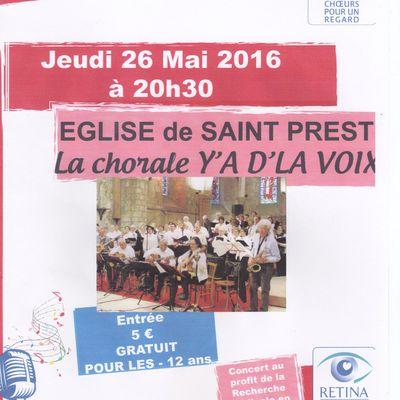 Concert à l'église de Saint Prest (Eure et Loir)