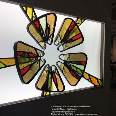 Vitrail_Dalle de verre Exposition Résonance Strasbourg 2014