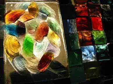 Stages de vitraux de dalles de verre sculptées