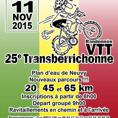 "Rando VTT ""La Tranberrichonne"" - Neuvy - Mer. 11 NOV."