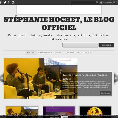 Stéphanie Hochet, le blog officiel