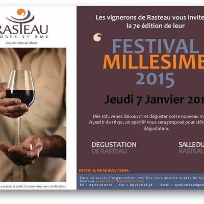 Millésime 2015 à Rasteau, du très bon !