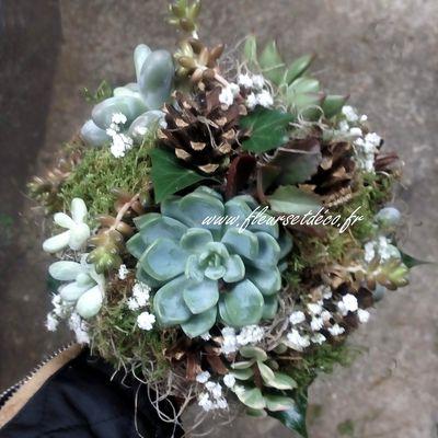 """Bouquet de mariée """"succulentes...."""""""