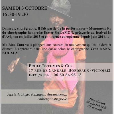 Stage de danse avec Yvon Nana Kouala