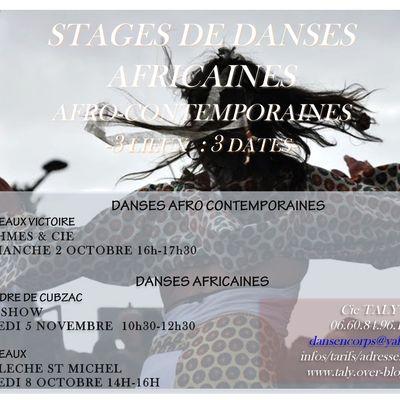 Stages de danses africaines& afro-contemporaines