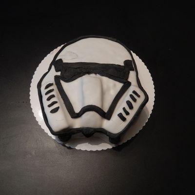gâteau  star wars - stormtrooper