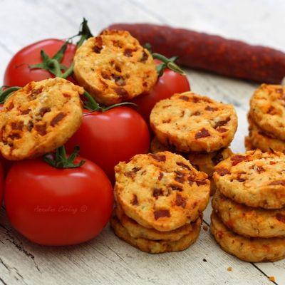 Cookies salés aux tomates séchées et chorizo