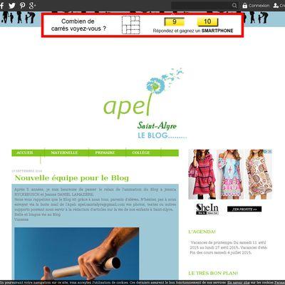 Le Blog de l'APEL de Saint-Alyre
