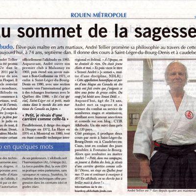 Un article sur Sensei André Tellier.