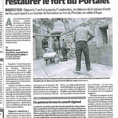 29 AVRIL 2015, VISITE SUR LE CHANTIER DU FORT DE PORTALET