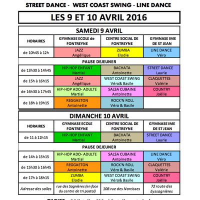 STAGE MULTI-DANSES 2016