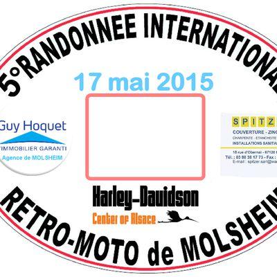 5° Rando Moto Molsheim (Alsace) 2015
