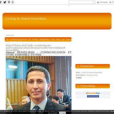 Le blog de Ahmed Benzelikha