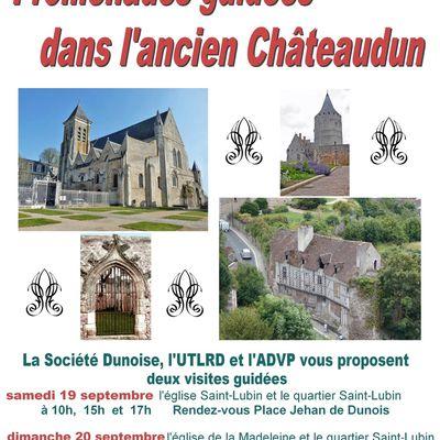 La Société Dunoise, l'UTLRD et l'ADVP vous invitent aux visites commentées du quartier Saint-Lubin