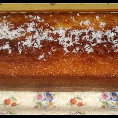 Gâteau noix de coco chocolat blanc de mon invention