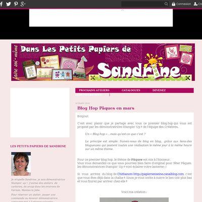 Les petits papiers de Sandrine