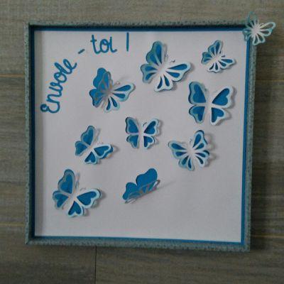 Envol de papillons - fichier pour machine de découpe Silhouette